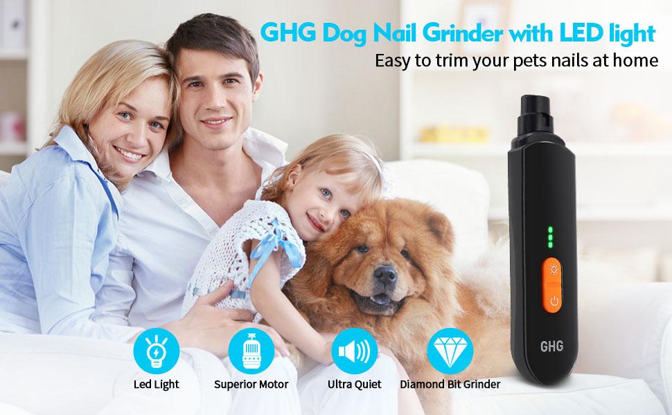 GHG Dog Nail Grinder with LED Light