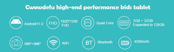 high-end performance kids tablet