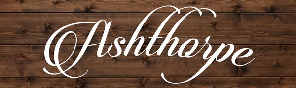 Ashthorpe Logo on Wood Background