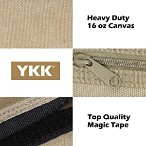 rough enough high quality kids wallet for boys made of heavy duty canvas durable sturdy YKK zipper