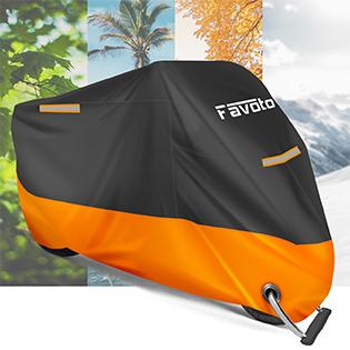 Black Orange Motorcycle Cover