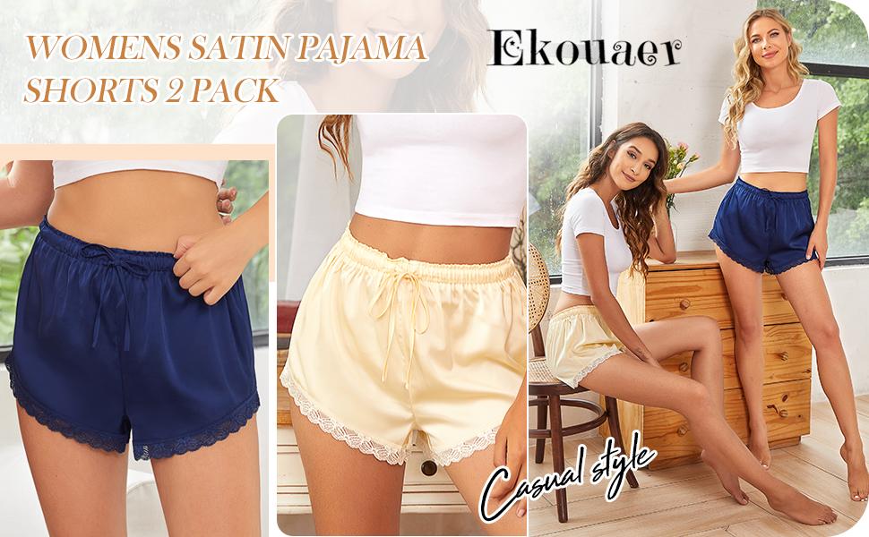 Women silk sleep shorts