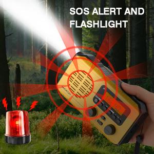 SOS alert and flashlight