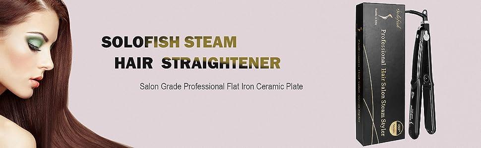 SOLOFISH steam hair straightener