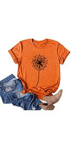 Cute Dandelion Shirts Orange(S-3XL)