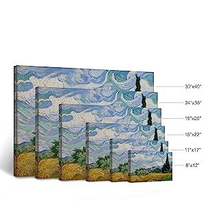 Comparing Sizes Canvas Wall Art 8x12 11x17 15x22 19x28 24x36 30x40