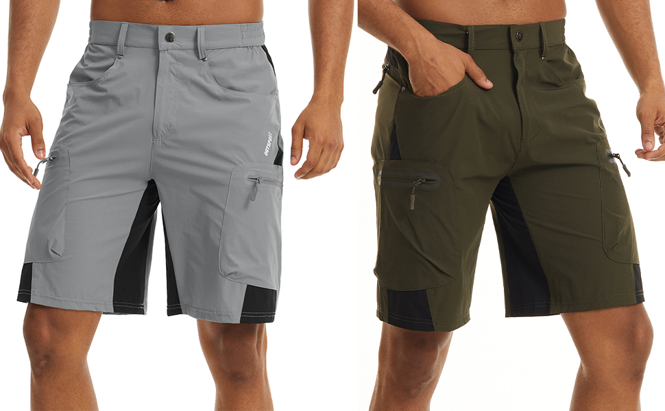EKLENTSON Shorts for Men Workout Thin Knit Slim Fit Fishing Training Spring Shorts
