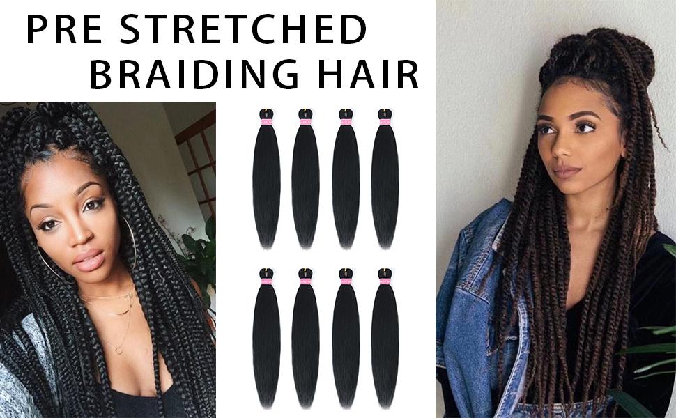 PRE STRETCHED BRADIDING HAIR