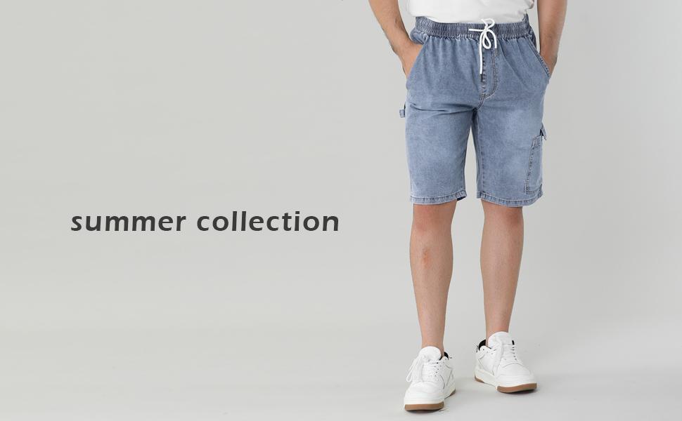Elastic Waist Cargo Jeans