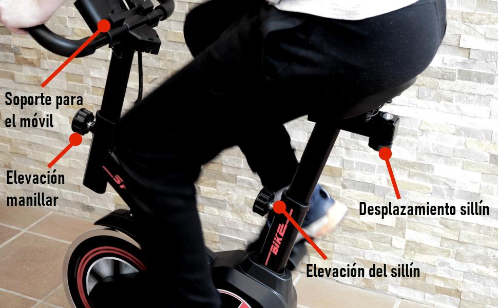 bicicleta de spinning fitfiu, bicicleta estatica gridinlux, bicicleta indoor