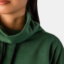 mock neck travleisure cropped sweatshirt spruce