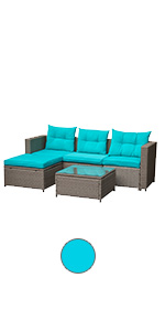 5 piece patio sofa set
