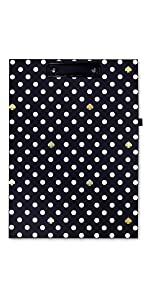 kate spade new york, polka dot, clipboard folio