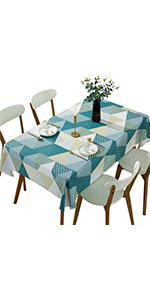 DUOFIRE Heavy rectangular vinyl tablecloth, easy to clean and waterproof table cover1
