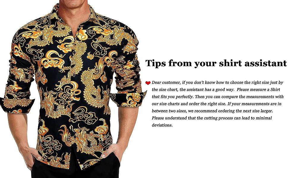 Fabulous Dress Shirts for men Dragon Orang Black Shirts