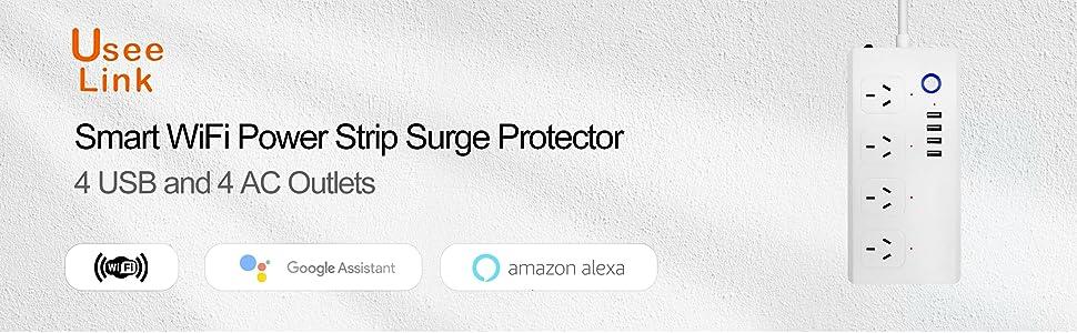 smart WiFi power strip surge protector