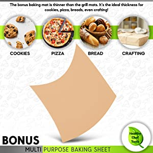 multipurpose baking sheet use for cookies, pizza, bread crafting,