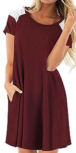 maroon womens dress