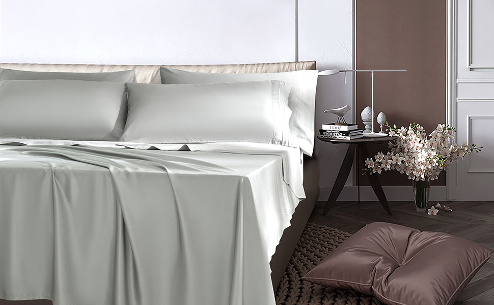 bamboo sheet sets white