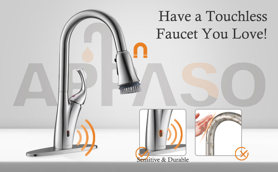 APPASO Touchless Kitchen Faucet with Pull Down Sprayer, Motion Sensor Kitchen Faucet