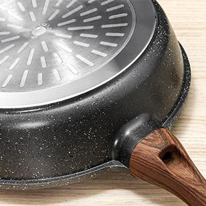 saute pan with high Magnetic Conductive stainless steel Base