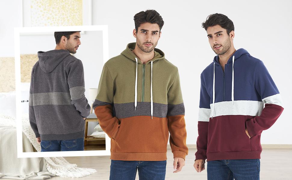 mens patchwork hoodie