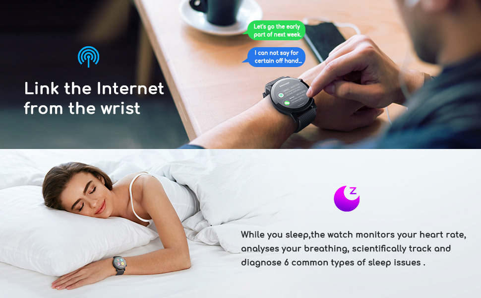Smart Watch for Android & iOS Phones Compatible 14 Days Endurance IP68 Swimming Waterproof5