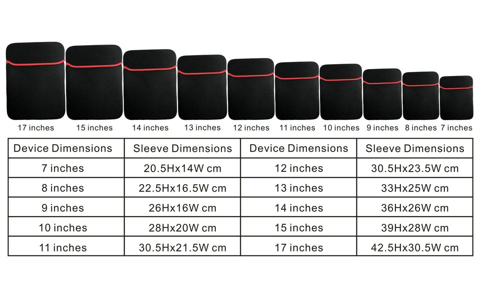 Protective Neoprene Sleeve for iPad, Kindle Tablet, Macbook, Laptop, etc