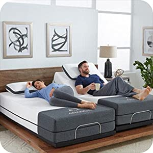 Split King Adjustable Bed Frame with massage usb anti snore zero gravity cooling cover gel infused