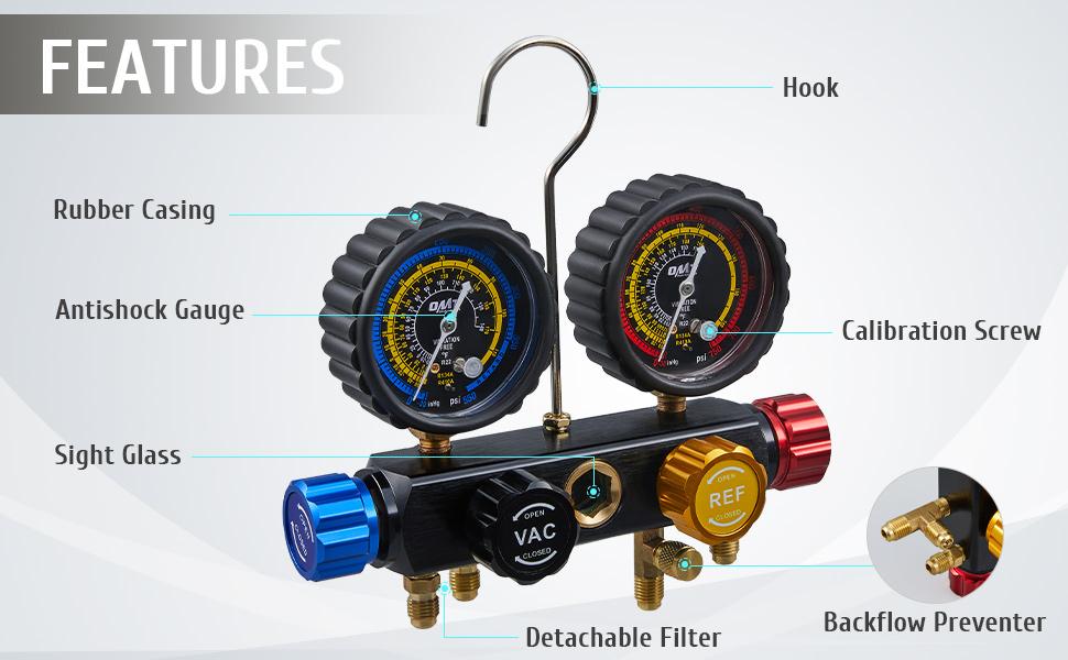 automotive ac gauge set