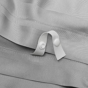 Pure Bamboo Duvet Cover Ties Snaps