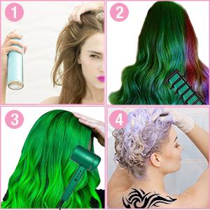 hair chalk, kids hair dye