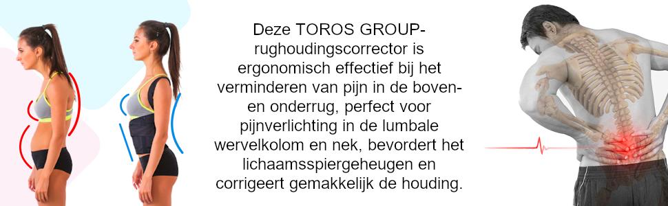 Deze TOROS GROUP-rughoudingscorrector is ergonomisch effectief bij het verminderen van pijn