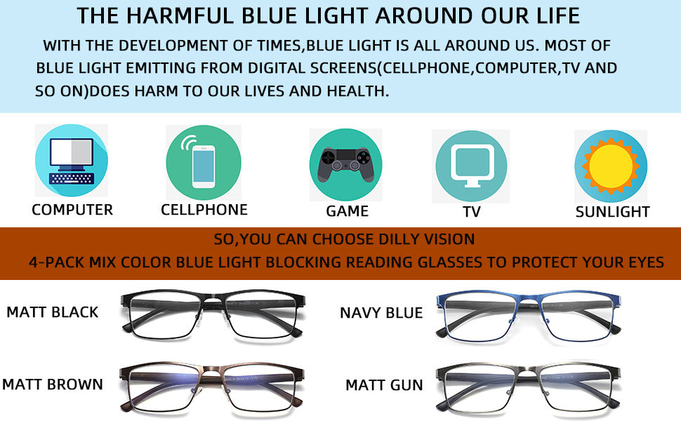 blue light reading glasses
