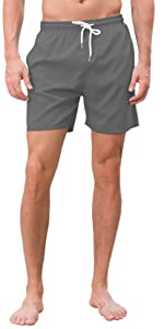 Mens Swim Trunks Quick Dry Beach Shorts with Pockets