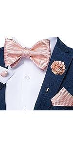 mens bow tie set