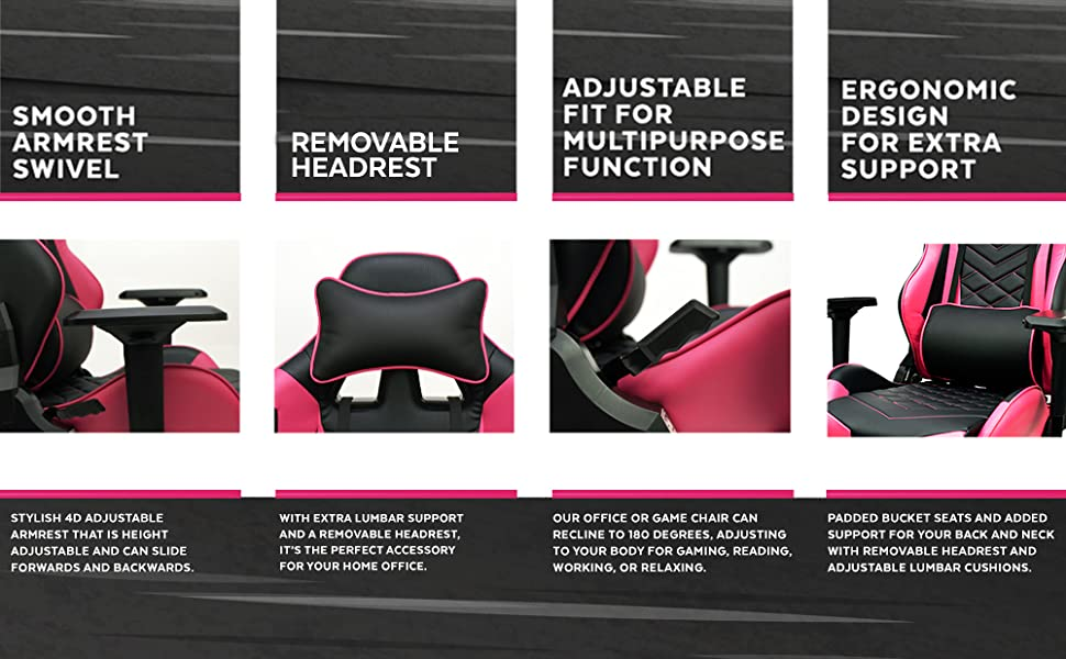 desk chair pink
