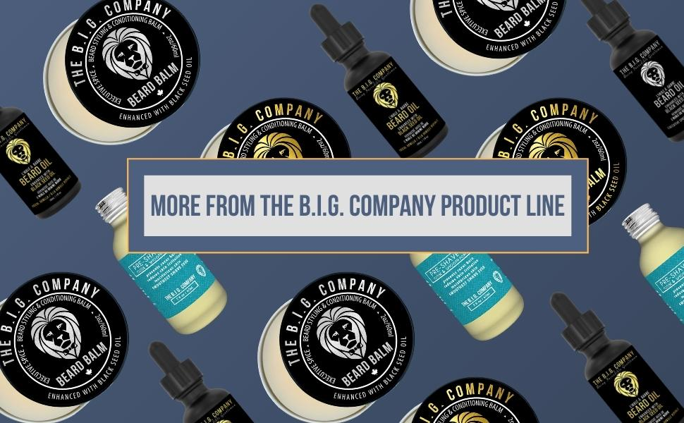 Beard Products for Men. Beard oil, beard balm and pre shave oil.