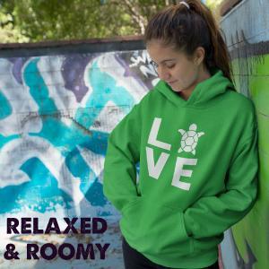 love turtles hoodie anime lover hoodie for women gift for granddaughter sweatshirt for her