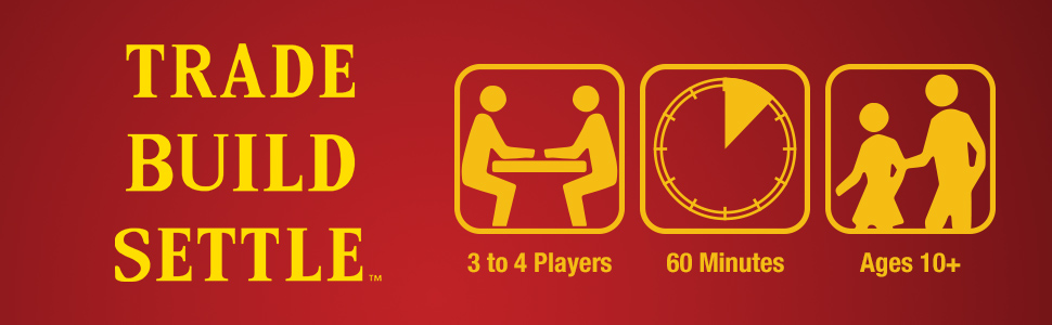 Catan 3 to 4 Players  Ages 10 and up Play Time - 60 Minutes