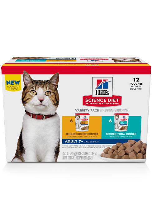 Adult 7+, Wet Cat Food Pouches