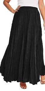 Crinkled Maxi Skirt