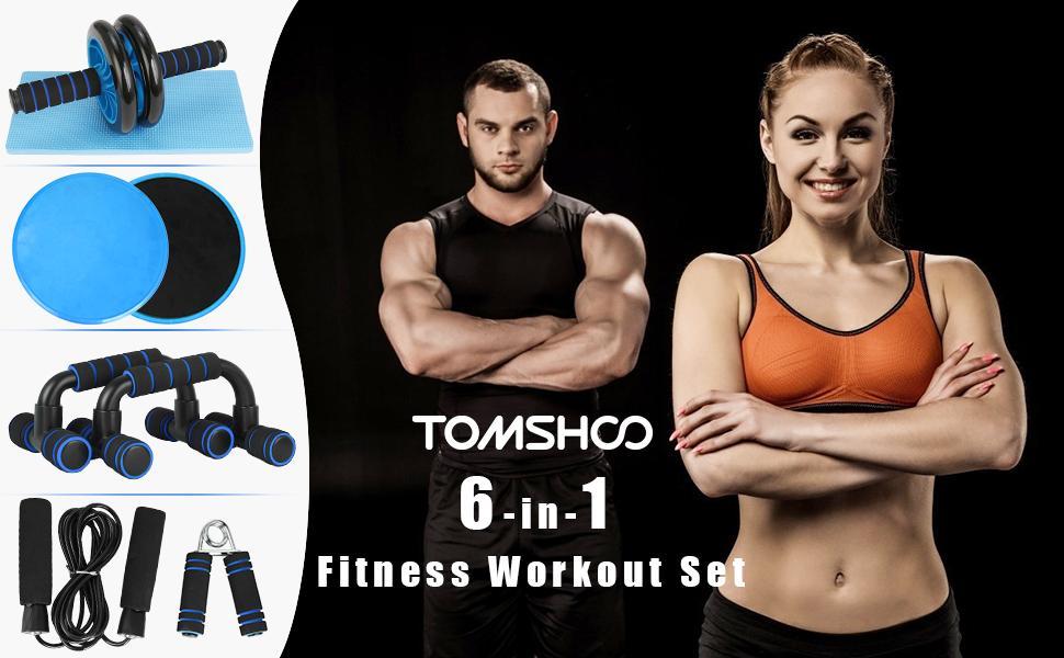 TOMSHOO 6 in1 Fitness Workout Set