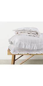 shabby chic linen duvet cover set