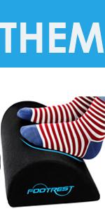 foot rest pillow for under desk chair foot cushion footrest memory foam leg rest