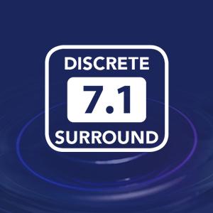 multi-channel surround, virtual 7.1 and 5.1, discrete 5.1 and 7.1 surround