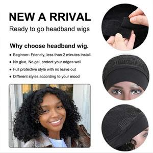 Body wave headband Beginner Friendly Ready to Go Quick Easy to Wear Convenient No Lace and No Glue