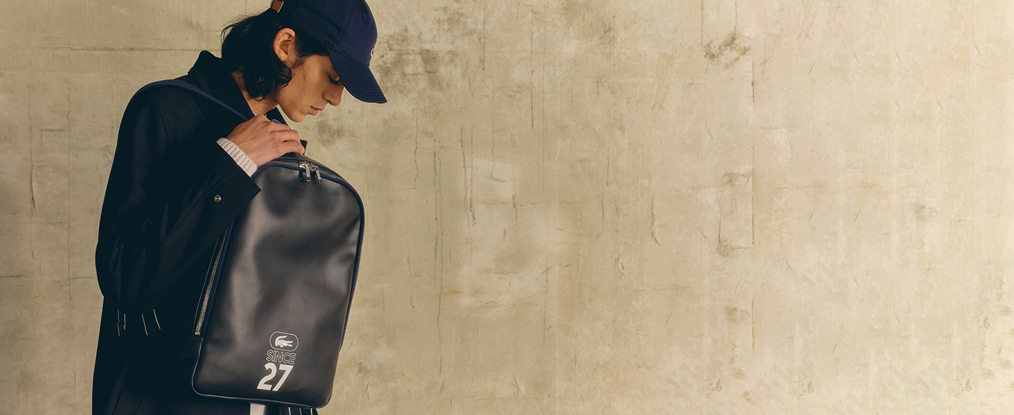 Lacoste leather goods   Three essentials for him