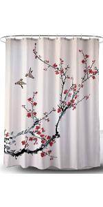 Oriental Painting Design-Fabric Shower Curtain
