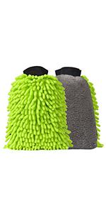 Microfiber car wash mitts